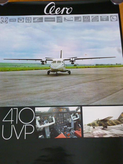 LET L 410 UVP - Aero - plakát - 1981