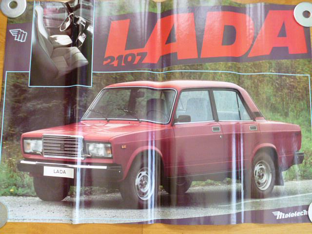 VAZ - LADA 2107 - plakát - Mototechna - 1990