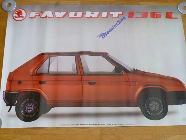 Škoda Favorit 136 L - plakát - 1988 - Mototechna