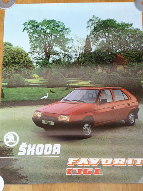 Škoda Favorit 136 L - plakát