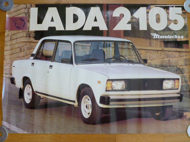 VAZ - LADA 2105 - plakát - Mototechna - 1990