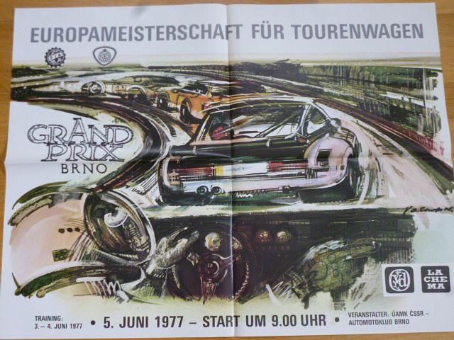 Grand Prix Brno - mistrovství Evropy - 1977 - plakát