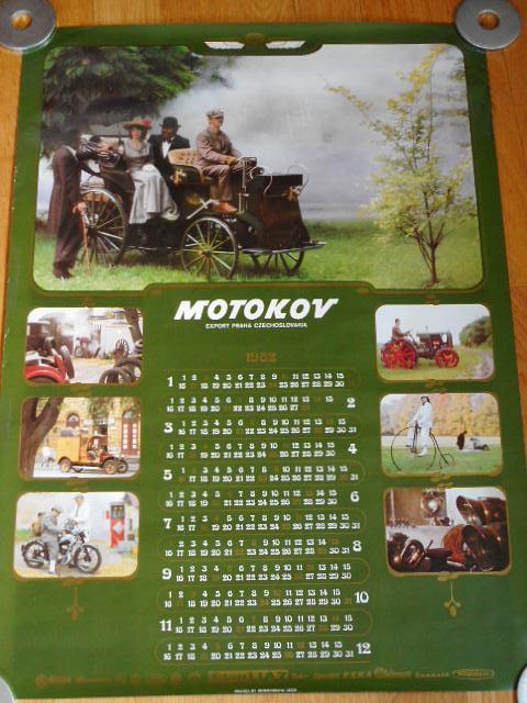 Motokov - kalendář 1982 - plakát