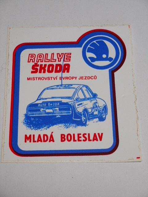 Rallye Škoda - Mladá Boleslav - samolepka