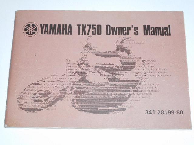 Yamaha TX 750 - Owner´s manual - 1972