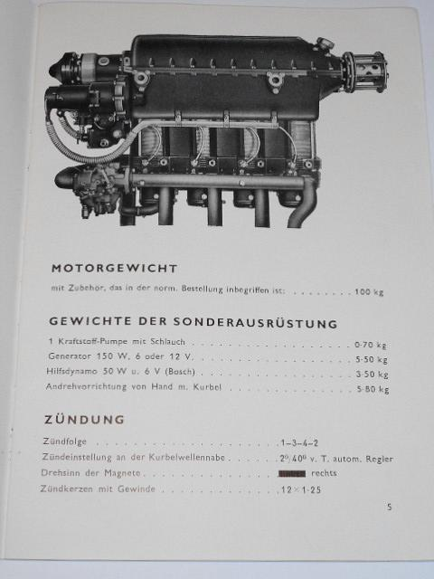 Flugzeugmotor T 4