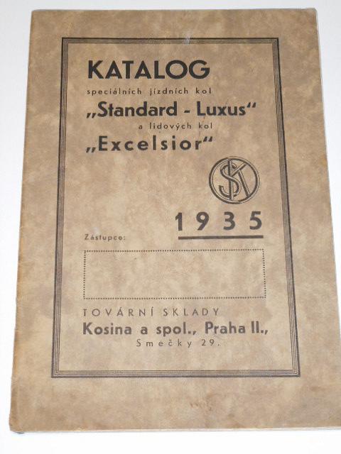 Katalog speciálních jízdních kol Standard-Luxus a Excelsior