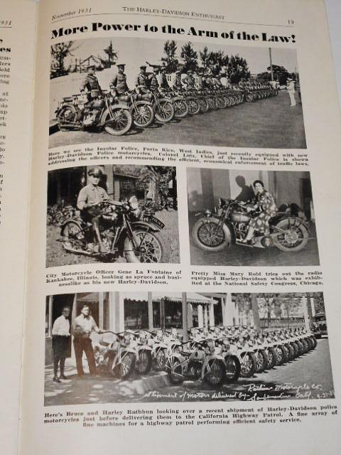 The Harley - Davidson - Enthusiast - November 1931