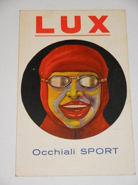 LUX Occhiali Sport - brýle - pohlednice