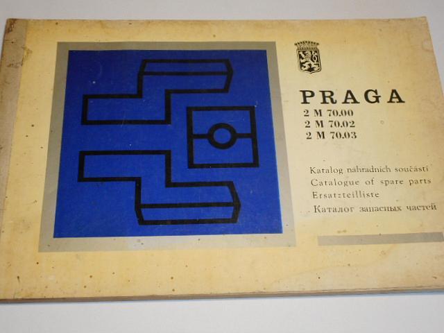 Praga 2 M 70.00, 2 M 70.02, 2 M 70.03 - katalog náhradních součástí - automatická hydromechanická převodovka - 1976