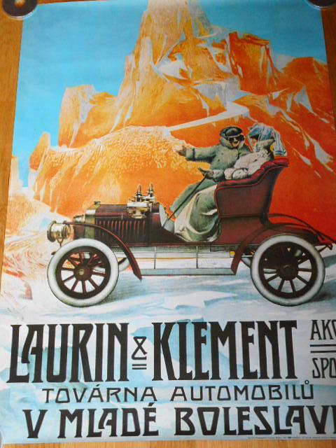 Laurin a Klement továrna utomobilů v Mladé Boleslavi - plakát - 1983