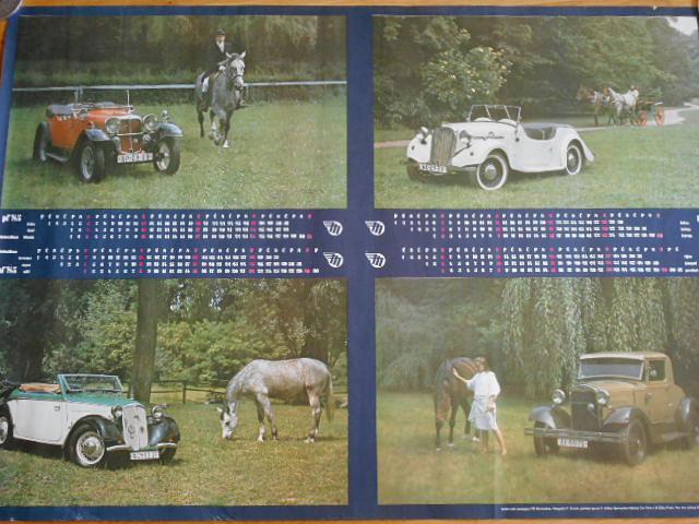 Mototechna 1985 kalendář - plakát - Aero, DKW, Ford...