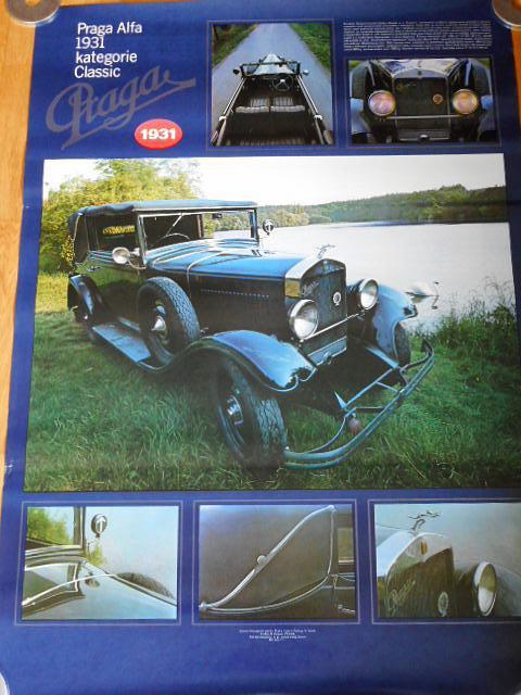 Praga Alfa 1931 - plakát