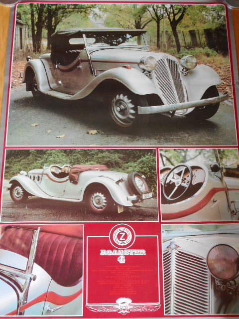 Zbrojovka Brno 4 roadster - plakát