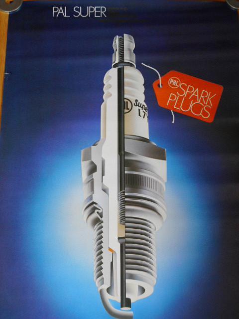 PAL Super Spark plugs - plakát - Motokov