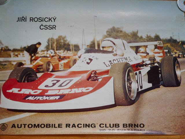 Jiří Rosický ČSSR Automobile Racing Club Brno - plakát