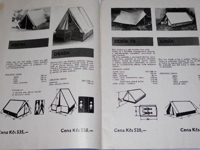 Letní sportovní potřeby - katalog - stany, kajak, kanoe...