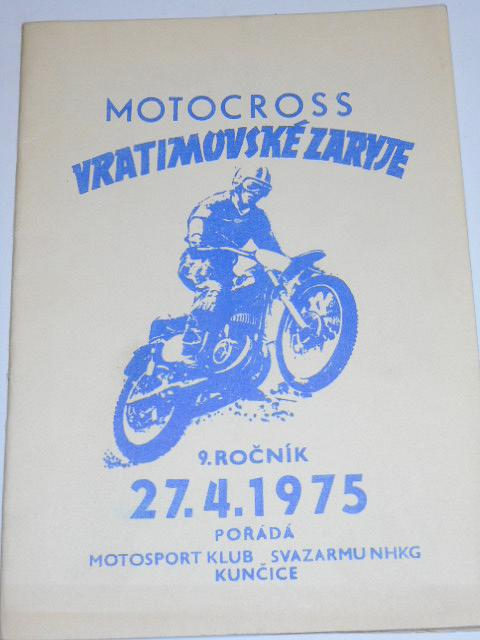 Motocross Vratimovské Zaryje - 27. 4. 1975 - program