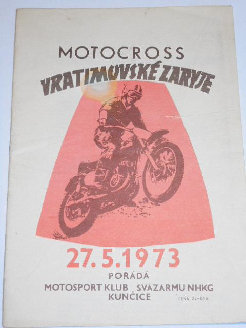 Motocross Vratimovské Zaryje - 27. 5. 1973 - program