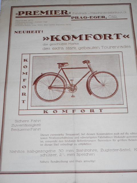 Premier Komfort - prospekt - 1930