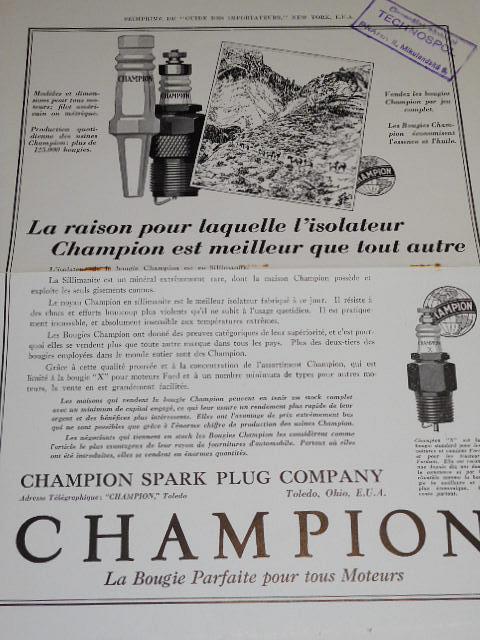 Champion - zapalovací svíčky - prospekt