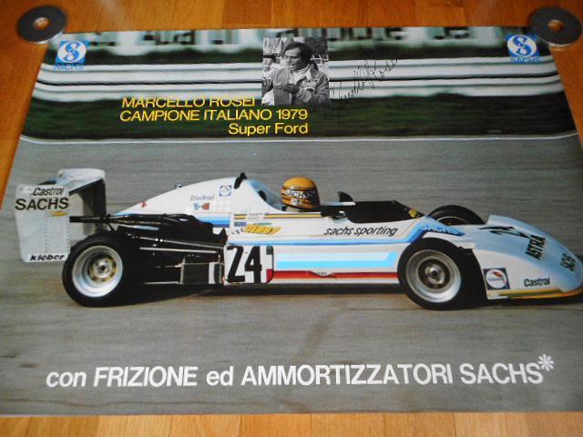 Marcelo Rosei campione Italiano 1979 Super Ford - plakát