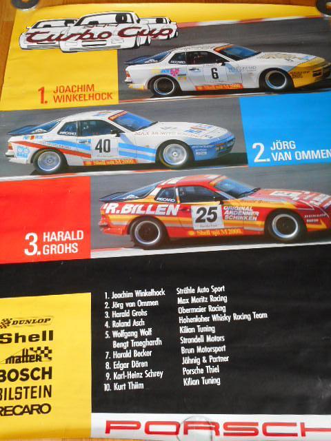 Porsche 944 Turbo Cup - plakát - 1986
