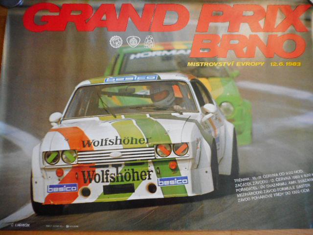 Grand Prix Brno - Mistrovství Evropy 12. 6. 1983 - plakát