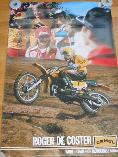 Roger de Coster - Suzuki - World Champion Motocross - plakát