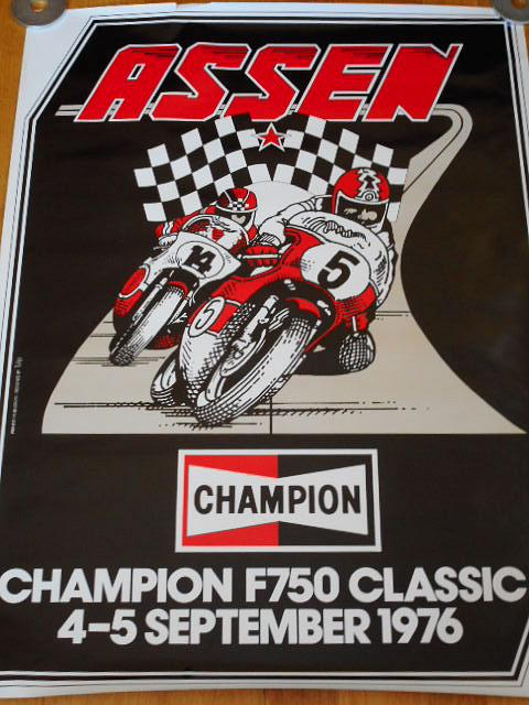 Assen - Champion F 750 Classic 4-5 september 1974 - plakát