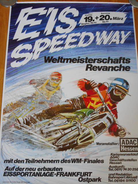 Eis speedway - Weltmeisterschafts Revanche - plakát