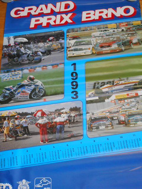 Grand Prix Brno 1993 - kalendář - plakát