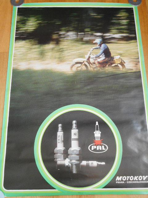 PAL - zapalovací svíčky - plakát - Motokov