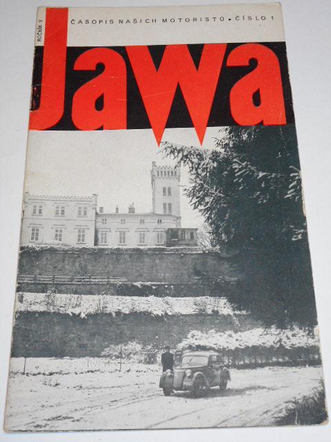 JAWA - časopis našich motoristů - 1/1938