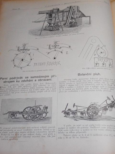 Český strojník a elektrotechnik, hlídka hospodářských strojů
