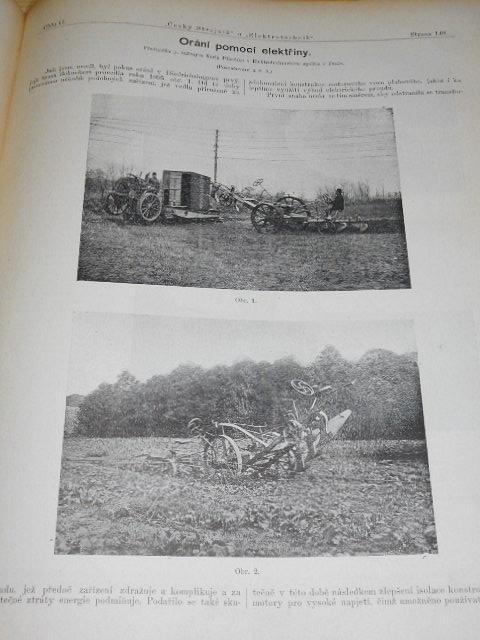 Český strojník a elektrotechnik, hlídka hospodářských strojů - 1901- 1902