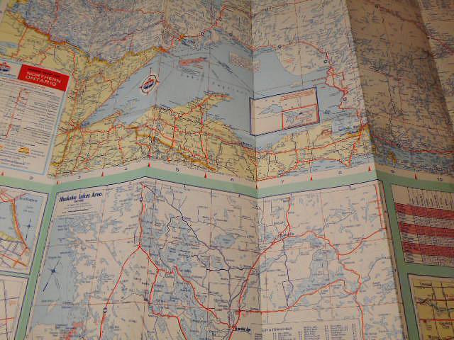 Ontario - American Oil Company - mapa