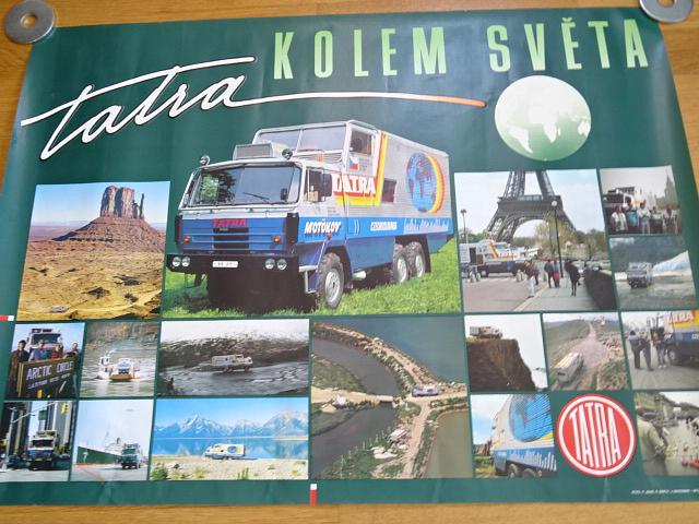 Tatra 815 GTC - Tatra kolem světa - plakát