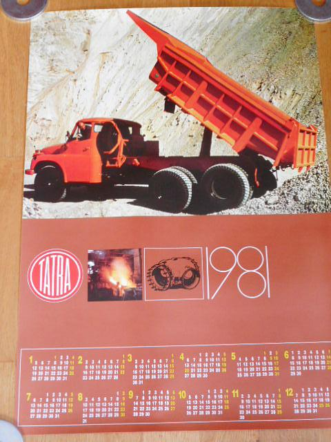 Tatra 148 - plakát - kalendář 1981