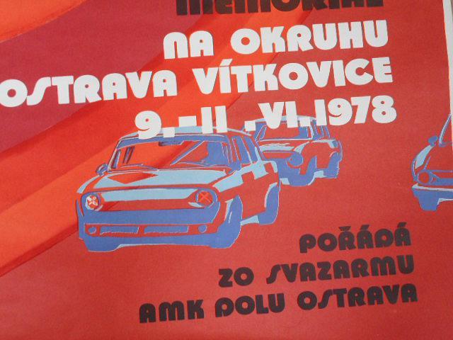 Balcarův Memoriál - VI.ročník mistrovství ČSSR 1978 - plakát