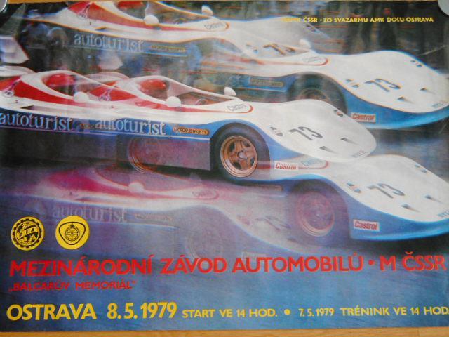 Balcarův Memoriál - mezinárodní závod automobilů - plakát