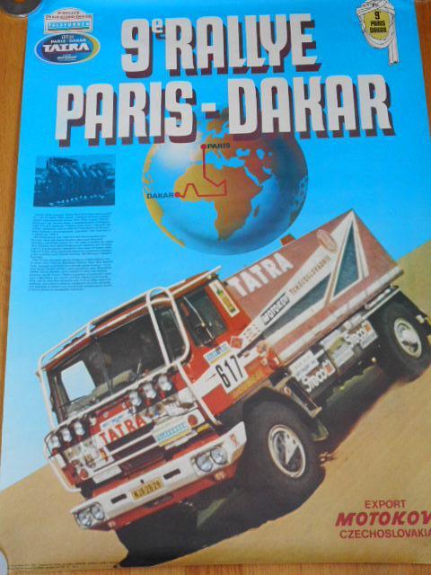 Tatra 815 - 9. Rallye Paris Dakar - 1987 - plakát - Motokov