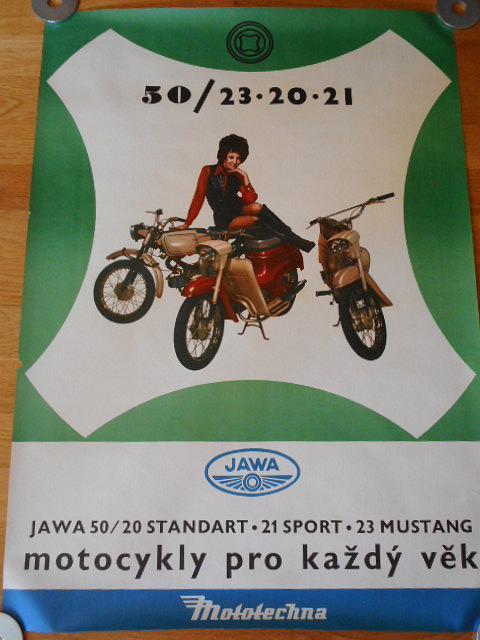 JAWA 50/20 standart, 21 sport, 23 Mustang - plakát