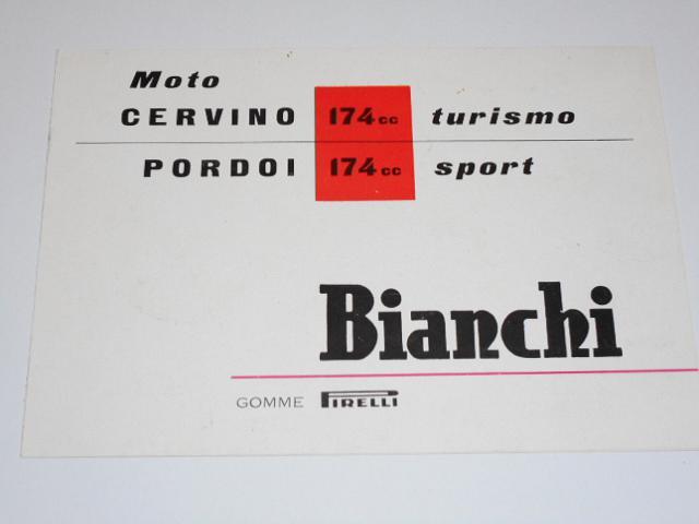 Bianchi Cervino 174 turismo, Pordoi 174 sport - prospekt