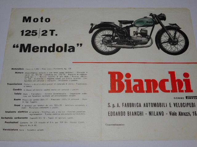 Bianchi 125/2T. Mendola - prospekt