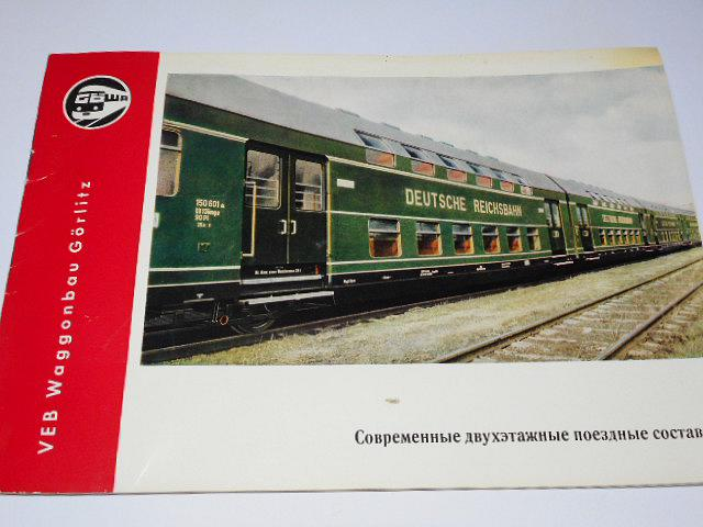 VEB Waggonbau Görlitz - dvoupodlažní vagón - prospekt - 1962