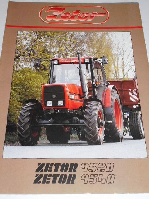 Zetor 9520, 9540 - prospekt