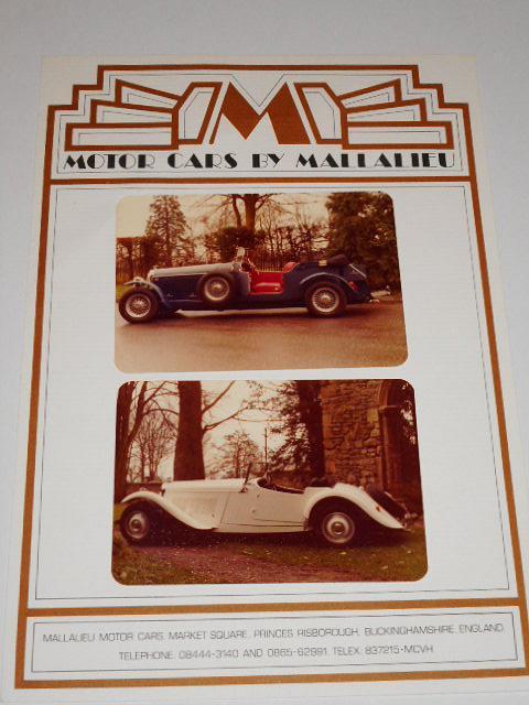 Motor Cars by Mallalieu