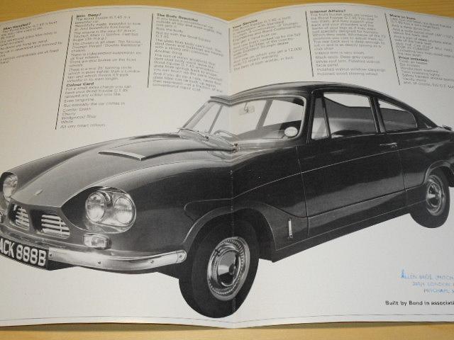 Bond Equipe GT 4S - prospekt + ceník