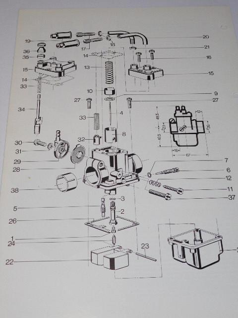 Bing Schiebervergaser Typen 15, 16, 17, 18 - prospekt - 1981